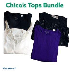 Chico's Tops Bundle Size 0/1 4/6